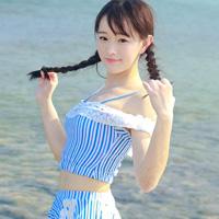 海边写真清纯可爱女生头像第2张