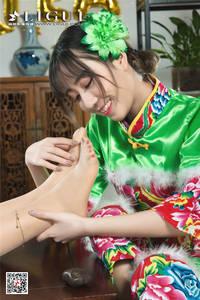中国旗袍美女丝袜玉足诱惑套图 Ligui丽柜NO.447