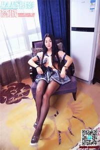 风骚模特美欣蕾丝情趣装美女图片 PANS第950期