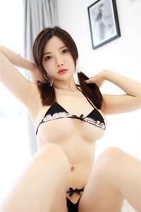 性感嫩模糯美子Mini情趣装内衣大胆人体艺术图片 美媛馆第370期