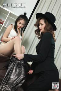 文芮&潘潘性感嫩模遭熟女调教私拍照片 Ligui丽柜NO.754