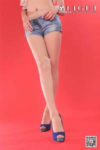 风骚美女司琪超短牛仔热裤私拍照片 Ligui丽柜NO.869